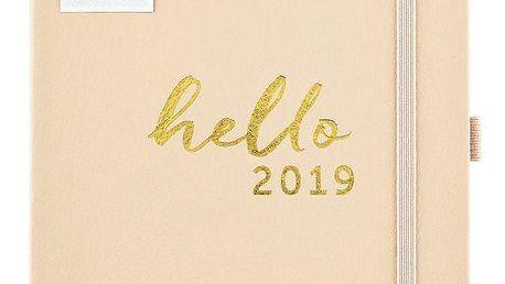 Busy B Rodinný plánovací diář 2019 Contemporary, krémová barva, papír