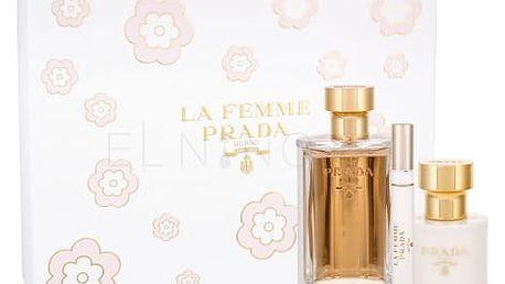 Prada La Femme dárková kazeta pro ženy parfémovaná voda 100 ml + parfémovaná voda 10 ml + tělové mléko 100 ml