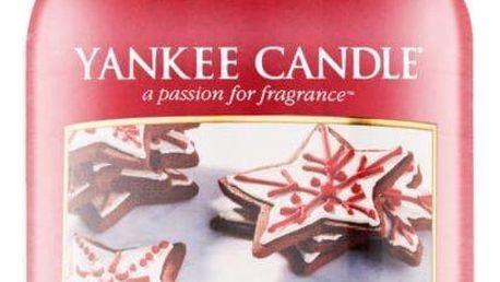 Yankee Candle Svíčka Yankee Candle 623 gr - Frosty Gingerbread, červená barva, sklo, vosk