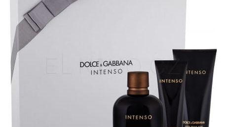 Dolce&Gabbana Pour Homme Intenso dárková kazeta pro muže parfémovaná voda 125 ml + balzám po holení 100 ml + sprchový gel 50 ml