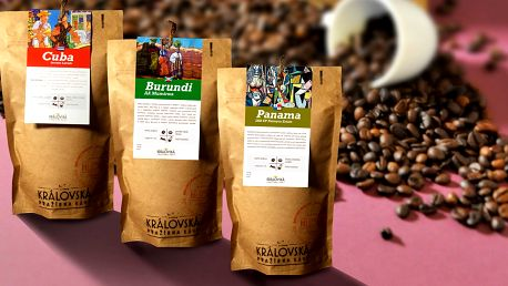 Balíčky zrnkové kávy z celého světa: 3 či 7 druhů