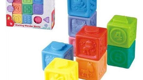 Gumové kostky 9ks v krabici 23x21x6cm 18m+