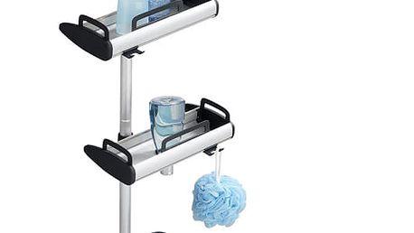 Teleskopická koupelnová police, do sprchového koutu LINE, 3 úrovně, zrcátko, WENKO