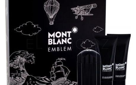 Montblanc Emblem dárková kazeta pro muže toaletní voda 100 ml + balzám po holení 100 ml + sprchový gel 100 ml