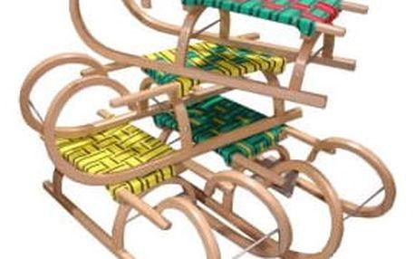 CorbySport 32623 Sáně 95 cm dřevěné - rohačky