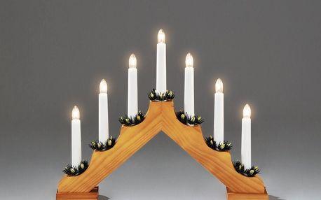 Adventní svícen dřevěný Gavar, tmavě hnědá