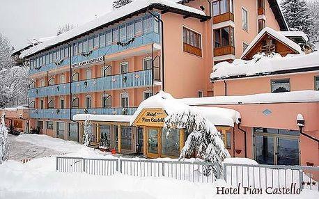 Lyžování Itálie, Skirama Dolomiti Adamello Brenta - Hotel Piancastello - 5denní lyžařský balíček se skipasem a dopravou v ceně