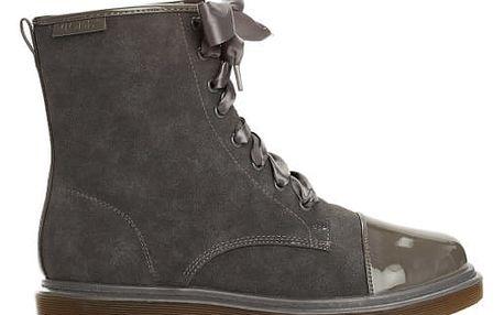 Dámské tmavě šedé kotníkové boty Donatella 6151
