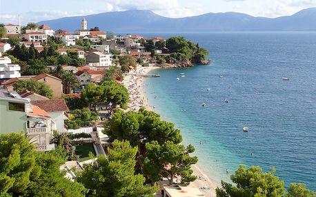 Chorvatsko - Makarska na 8 dní, polopenze s dopravou letecky z Ostravy