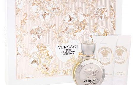Versace Eros Pour Femme dárková kazeta pro ženy parfémovaná voda 50 ml + tělové mléko 50 ml + sprchový gel 50 ml