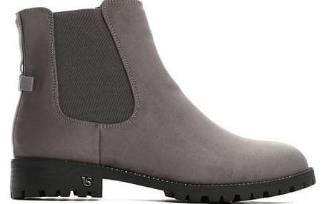 Dámské tmavě šedé kotníkové boty Holly 9083