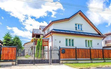 Vysoké Tatry ve Vile Hana s polopenzí a slevou do termálů Vrbov
