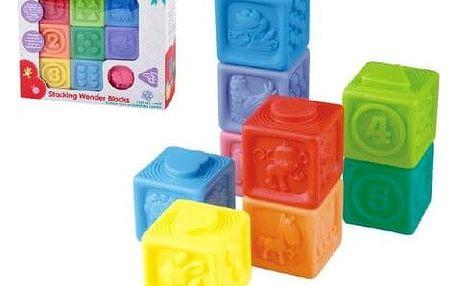 Teddies 59714 Gumové kostky 9ks 5x5cm v krabici 23x21x6cm 18m+