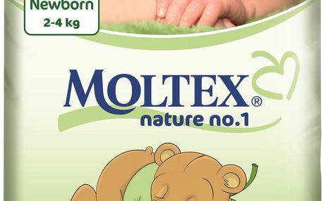 MOLTEX Nature no. 1 Newborn, 23 ks (2 - 4 kg) – jednorázové pleny