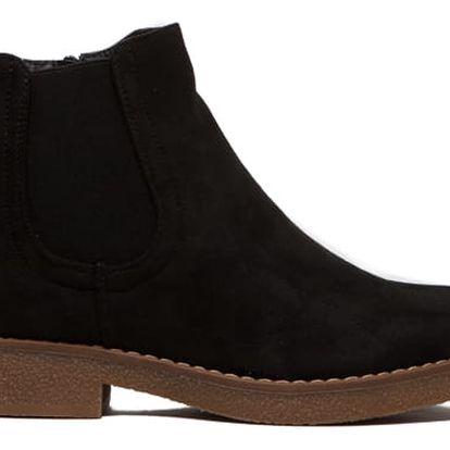 Dámské černé kotníkové boty Juliet 091