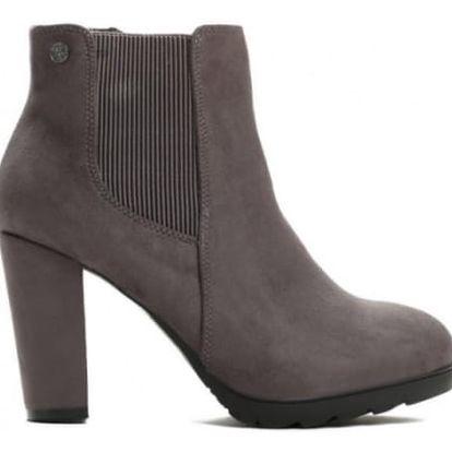 Dámské šedé kotníkové boty Delaney 4086