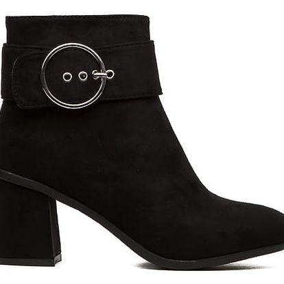 Dámské černé kotníkové boty Nora 1551