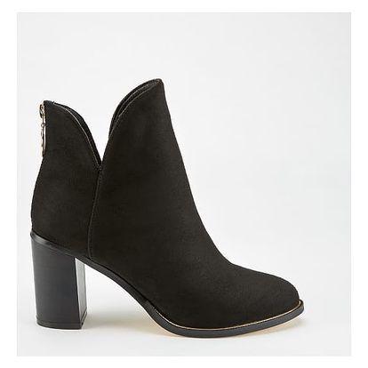 Dámské černé kotníkové boty Winnie 1009