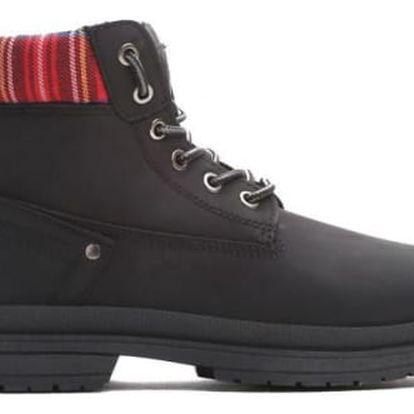 Dámské černé kotníkové boty Gina 010
