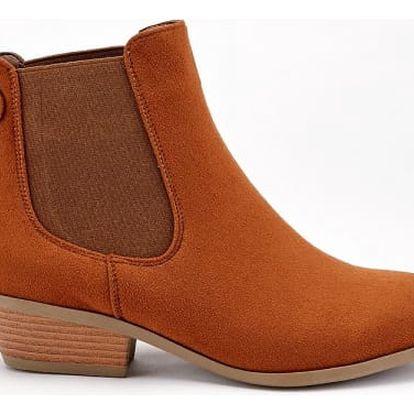 Dámské hnědé kotníkové boty Miriam 1226