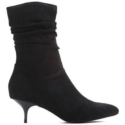 Dámské černé kotníkové boty Claudia 9231