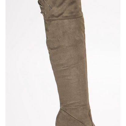 SUPER ME Kozačky nad kolena 0-108GR Velikost: 36 (23 cm)