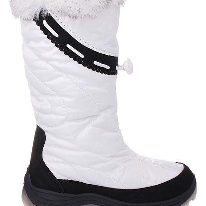 GISICODE Bílé dámské sněhule 67145WH Velikost: 36 (23,5 cm)