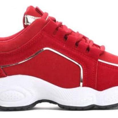 Dámské červené tenisky Kassindy 8442