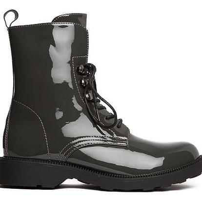 Dámské šedé kotníkové boty Litzy 104