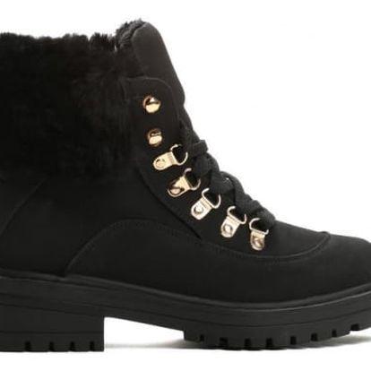 Dámské černé kotníkové boty Leiden 8316
