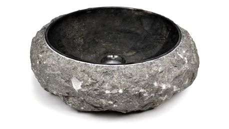Divero 43778 Umyvadlo z kamene - černý mramor