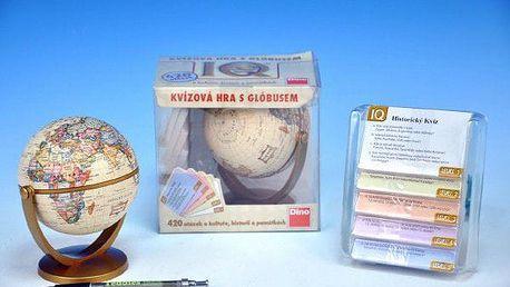 Teddies IQ Globus 50855 kvízová společenská hra v krabici 14,5x14x11cm