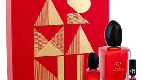 Giorgio Armani Sì Passione dárková kazeta pro ženy parfémovaná voda 50 ml + parfémovaná voda 7 ml + lesk na rty Lip Maestro 400 1,5 ml
