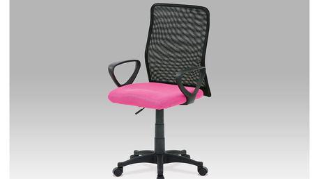 Kancelářská židle, látka MESH růžová / černá, plynový píst, KZKA-B047 PINK
