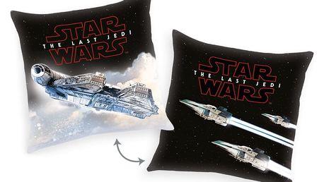 Herding Polštářek Star Wars The Last Jedi - Spaceship, 40 x 40 cm