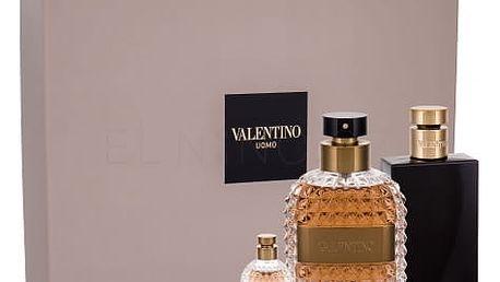 Valentino Valentino Uomo dárková kazeta pro muže toaletní voda 100 ml + balzám po holení 100 ml + toaletní voda 4 ml