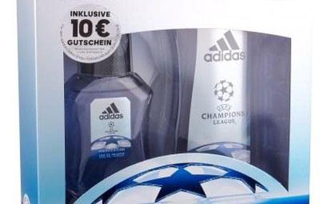 Adidas UEFA Champions League Arena Edition dárková kazeta pro muže toaletní voda 50 ml + sprchový gel 250 ml