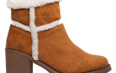 Dámské hnědé kotníkové boty Erin 1552