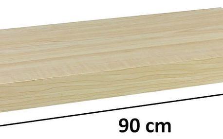 STILISTA VOLATO 31072 Nástěnná police - světlé dřevo 90 cm