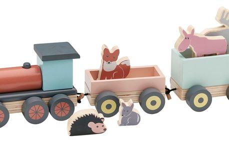 Kids Concept Dětský vláček Wonder Trail, multi barva, dřevo