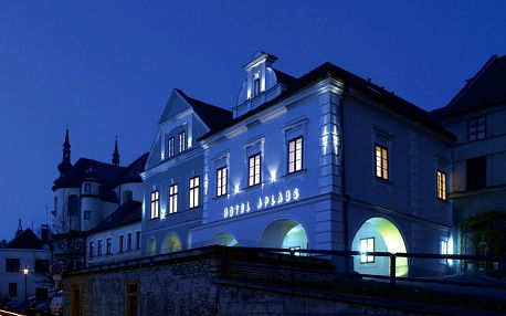 Hotel Aplaus**** v Litomyšli s romantickou večeří a privátním wellness