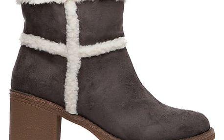 Dámské šedé kotníkové boty Erin 1552