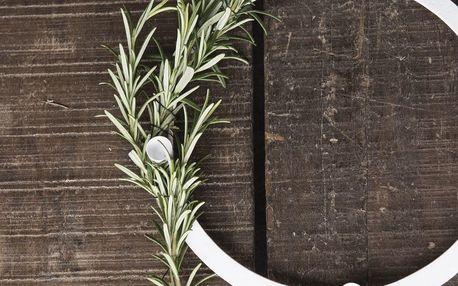 IB LAURSEN Adventní kovový svícen White Thin, bílá barva, kov