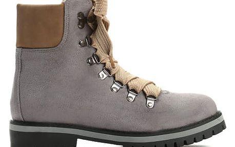 Dámské tmavě šedé kotníkové boty Trey 9092