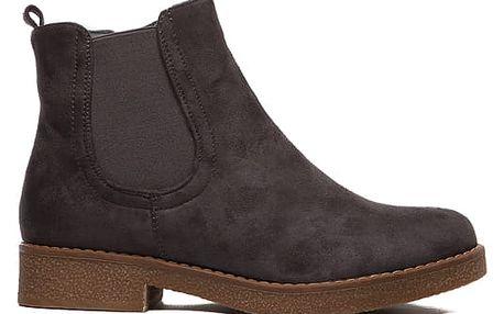 Dámské šedé kotníkové boty Juliet 091