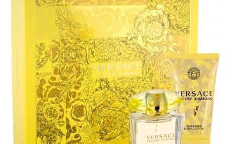 Versace Yellow Diamond dárková kazeta pro ženy toaletní voda 30 ml + tělové mléko 50 ml