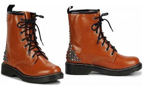 Dámské hnědé kotníkové boty Punk 113