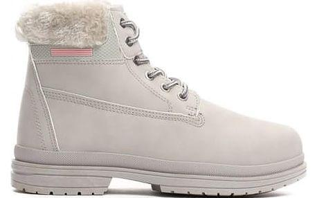 Dámské šedé kotníkové boty Vinnie 009