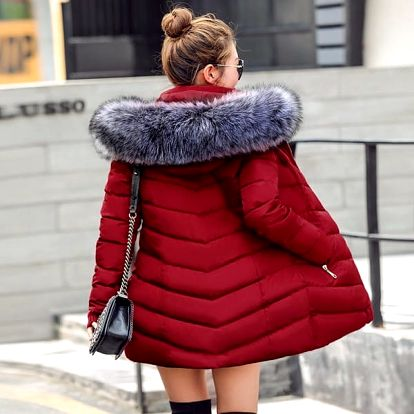 Dámský kabát s kožíškem Bonnie
