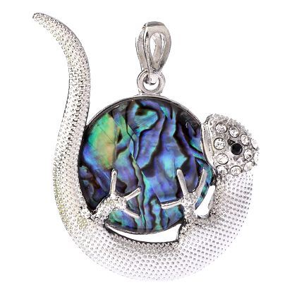 Fashion Icon Přívěsek ještěrka s kolečkem Paua perleti